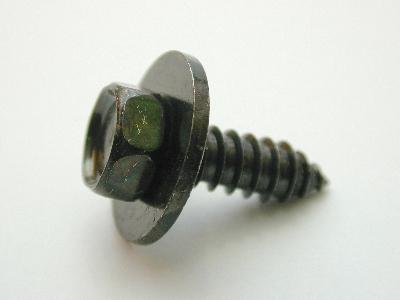 B1492/25 - Self Tapper guard washer - Pack 25 - 12 guage x 3/4 10mm head Black