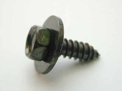 B1492/100 - Self Tapper guard washer - 12 guage x 3/4 10mm head Black