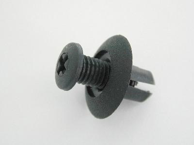 BLACK 7mm Screw Rivets Scrivet - pack of 50