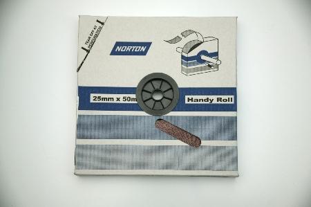 Emery paper 25mm x 50m - 120grit Norton