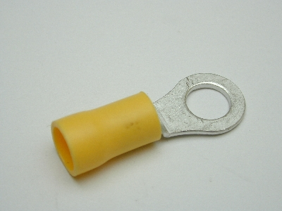 B641 Electrical Terminal (Pack 35) 6mm eyelet yellow