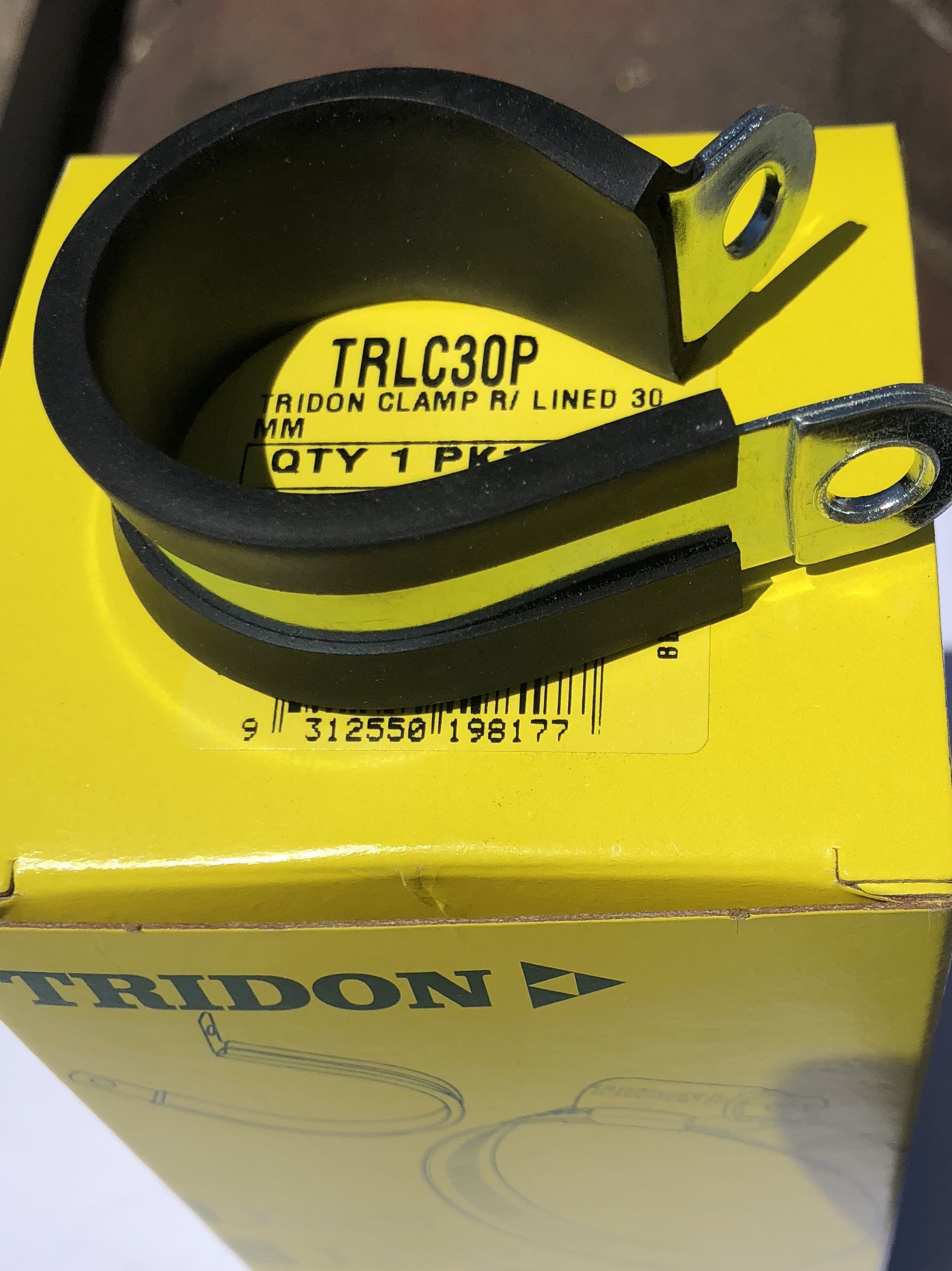 Tridon Rubber Lined Hose Clamps 30mm TRLC30P Box of 10