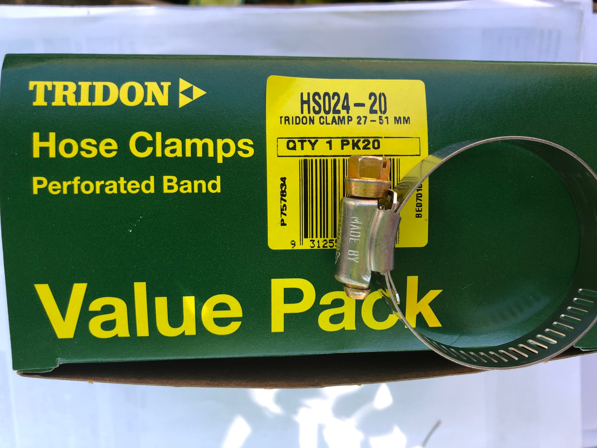 Tridon Hose Clamps HS24 27-51mm  Box of 20