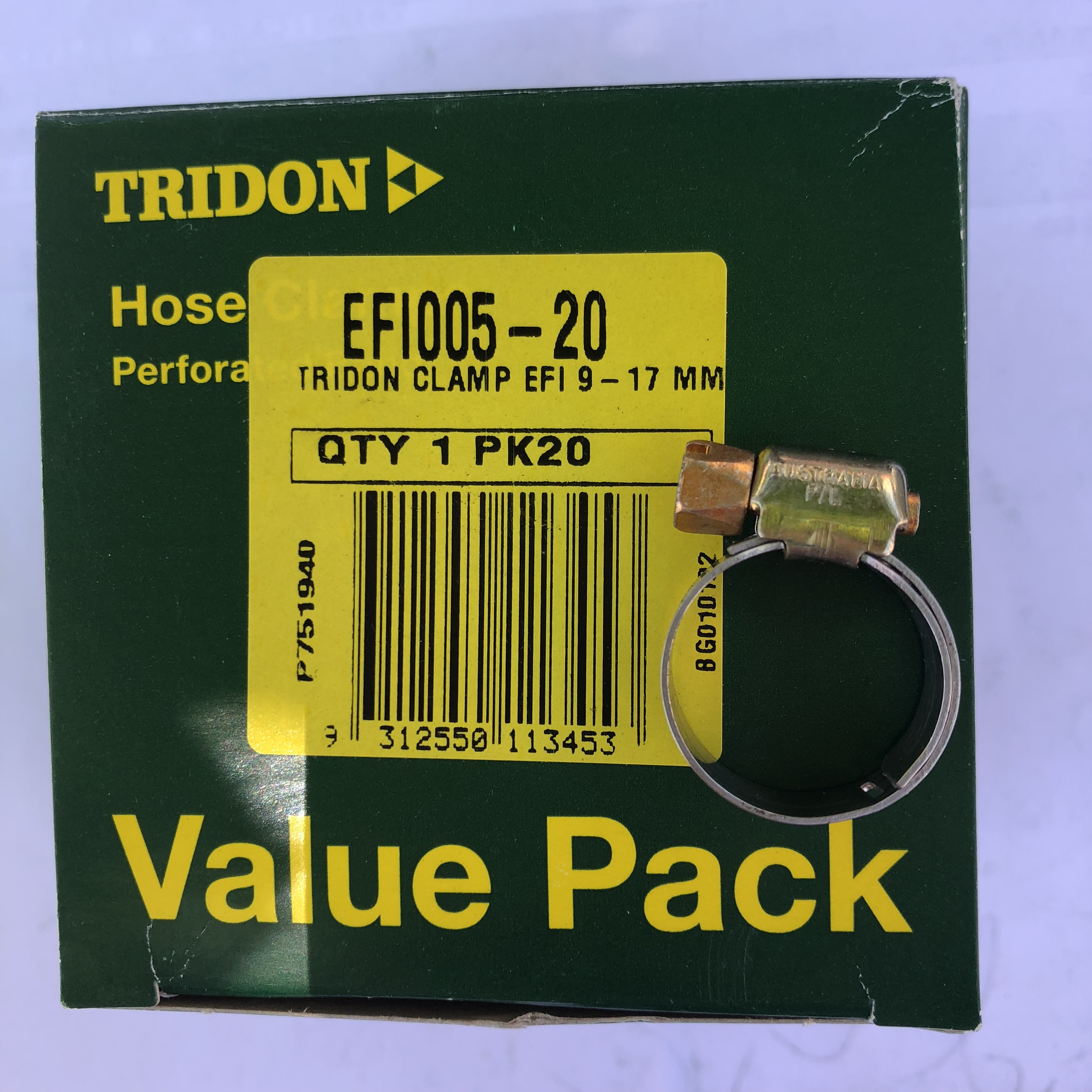 Tridon Hose Clamps EFI5 7mm fuel injection with steel band Box of 20