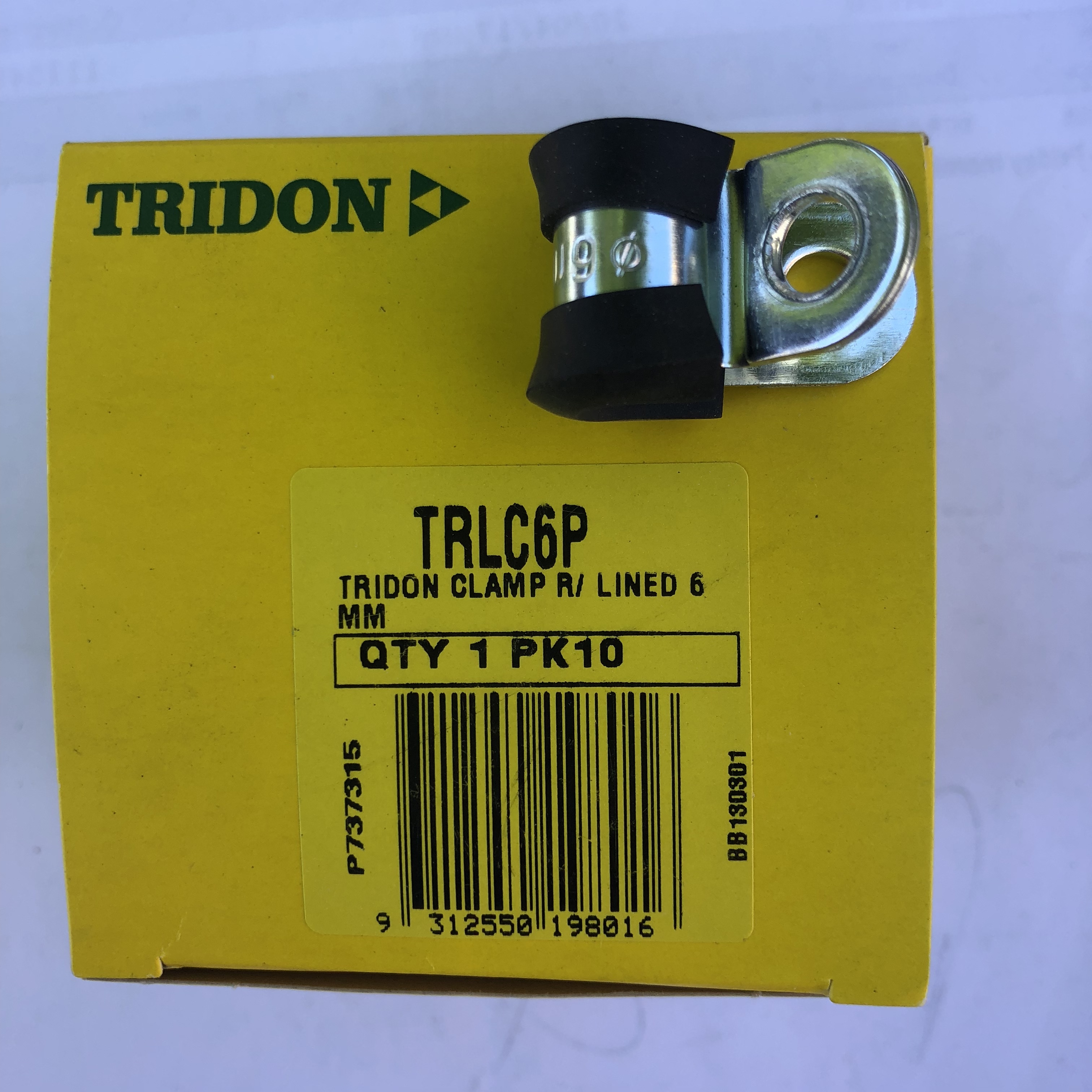 Tridon Rubber Lined Hose Clamps  6mm TRLC6P Box of 10