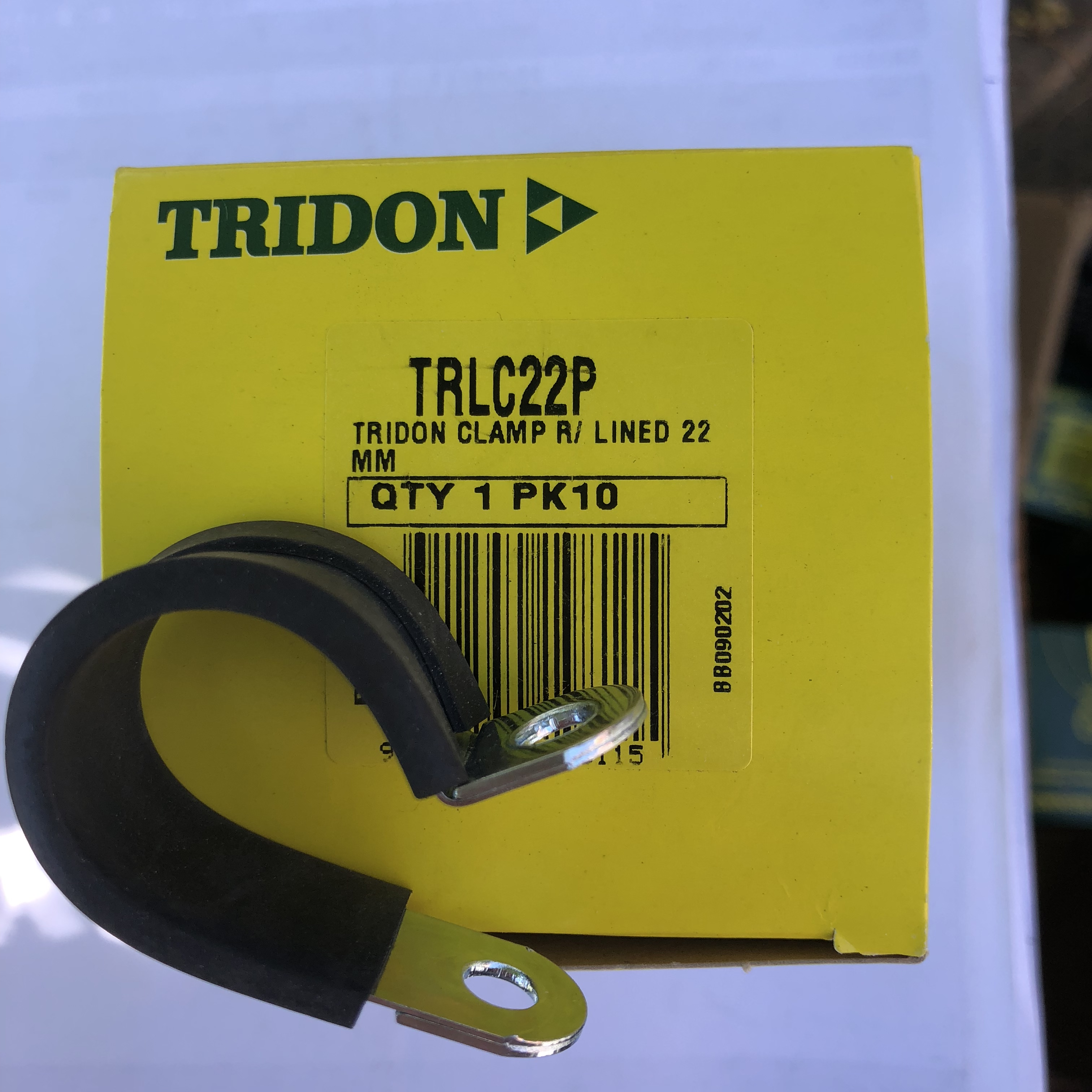 Tridon Rubber Lined Hose Clamps 22mm TRLC22P Box of 10