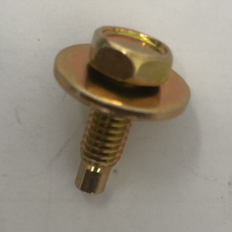 B1497s/25 6mm x 18mm guard bolt zinc plate yellow (pack 25)