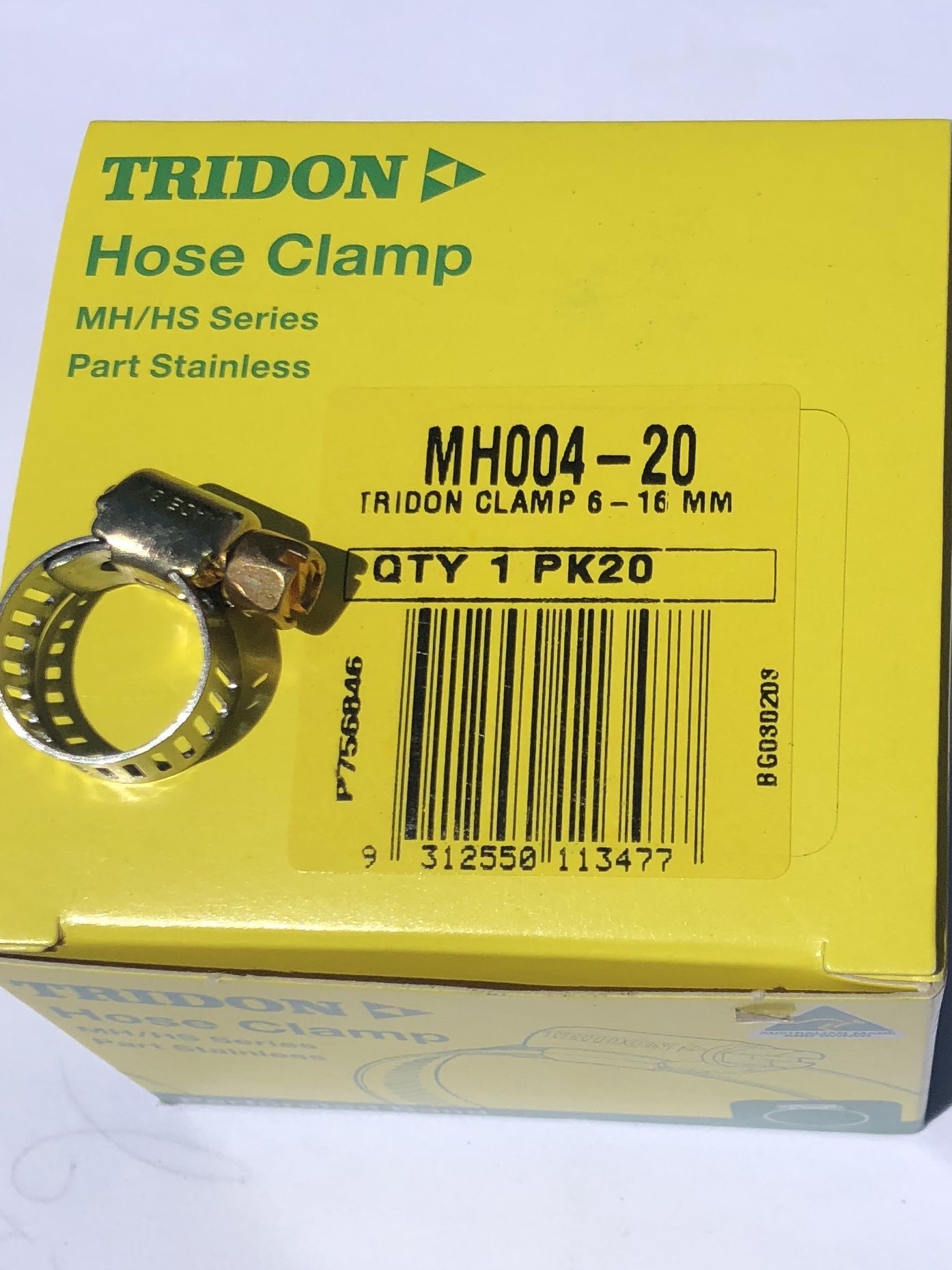 "Tridon Hose Clamps MH4 Box of 20  1/4"" fuel hose"