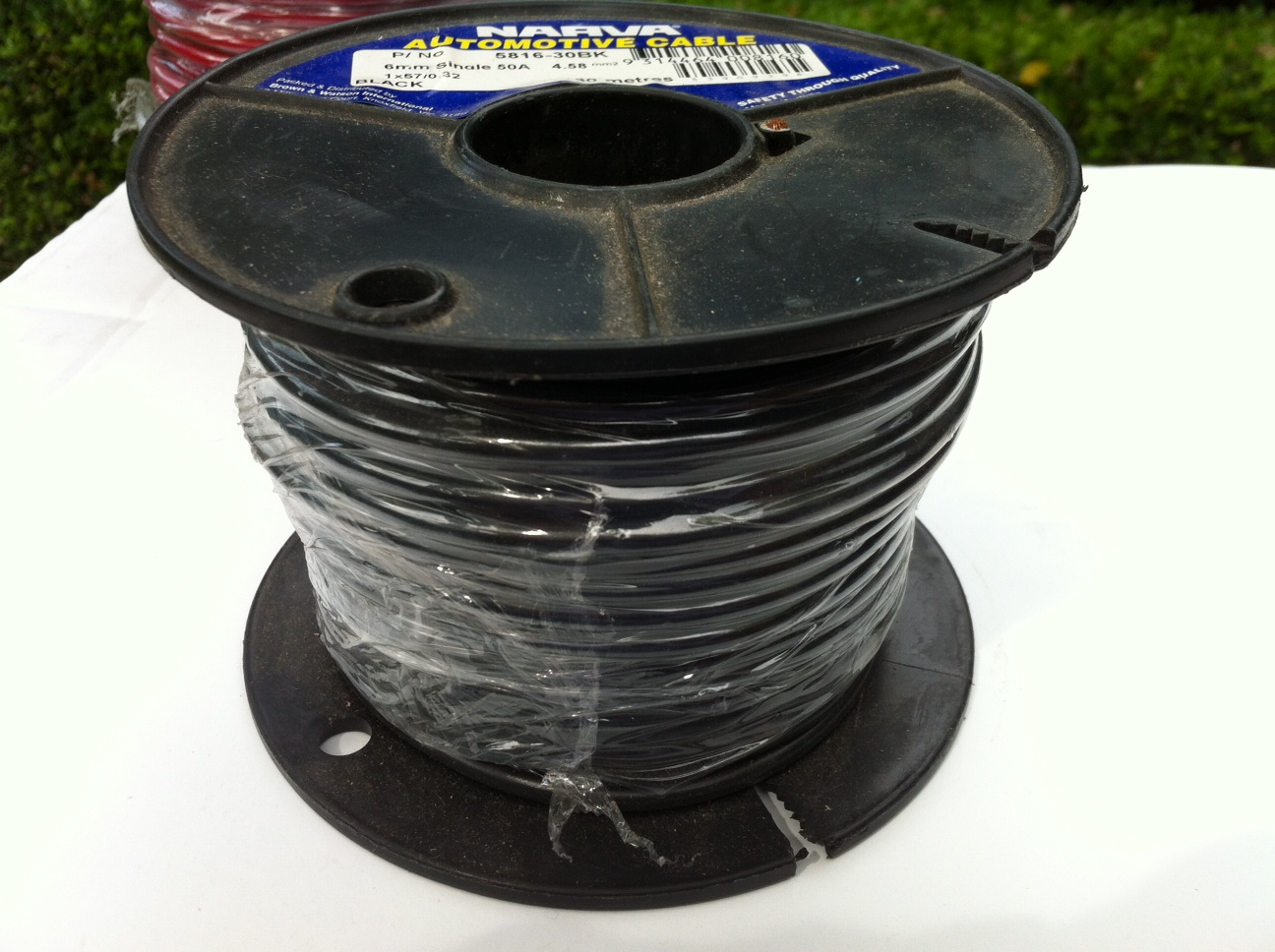 6mm black electrical wire 30M spool