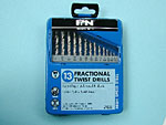 """Drill Bits Set imperial 13 piece 1/16""""-1/4"""""""