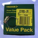 "Tridon Hose Clamps EFI6 EFI Fuel Hose 5/16"" with steel band Box of 20"